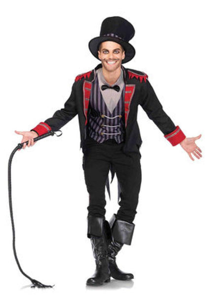 3PC.Sinister Ring Master,jacket,shirt/vest combo,top hat in MULTICOLOR