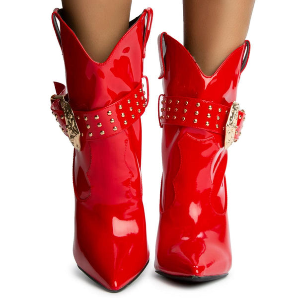 Reid Pointy Toe with Buckle Boots