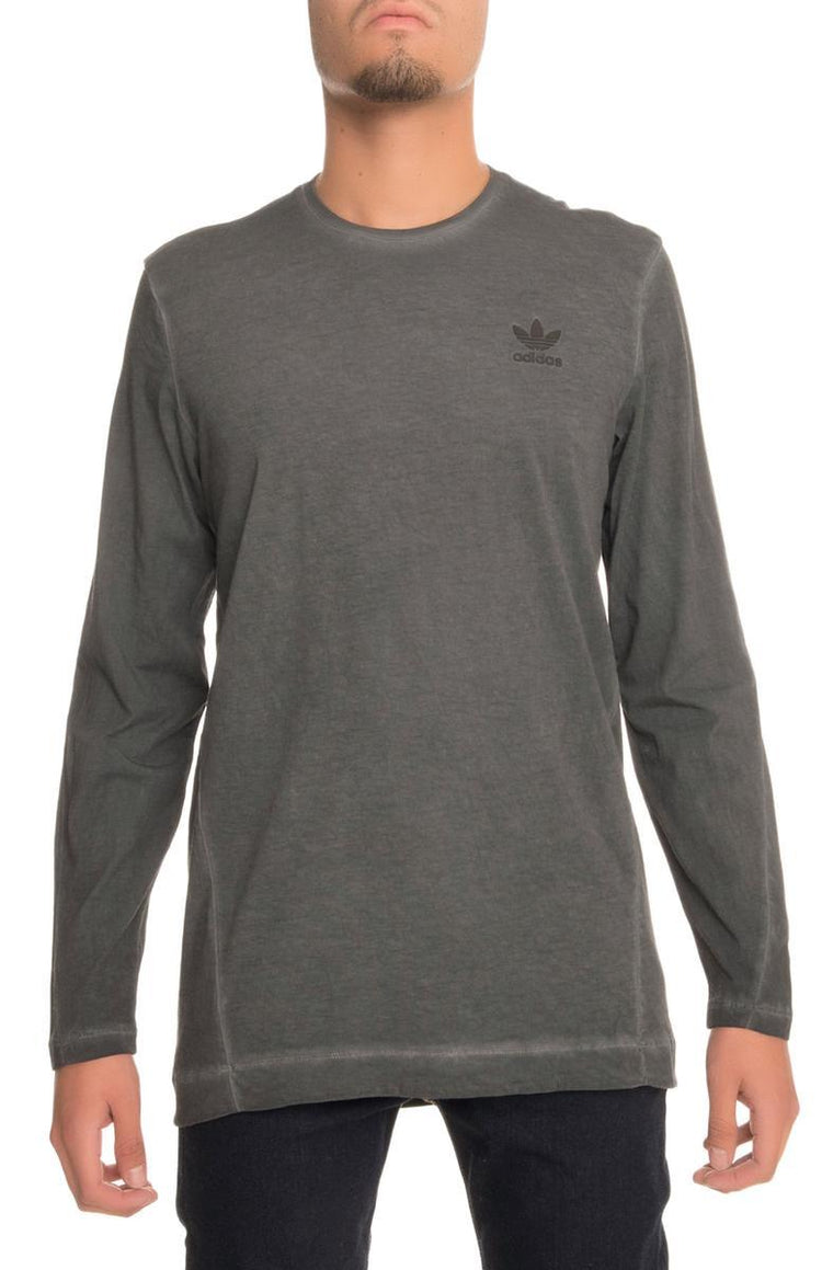 The adidas ST Mod LS Dye Tee in Dark Grey