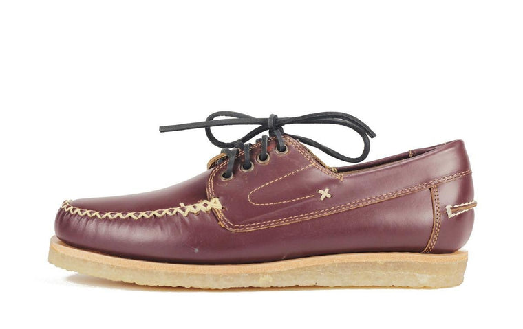 JD Fisk for Men: Mandala Burgundy Leather Oxford