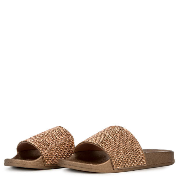 Cape Robbin Moira-67 Women's Rose Gold Slides