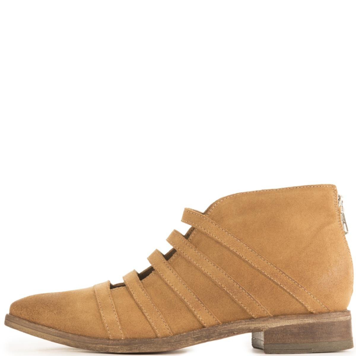 Free People for Women: Swept Away Tan Ankle Booties