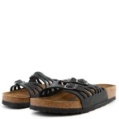 Regular Granada Black Oiled Leather Sandals