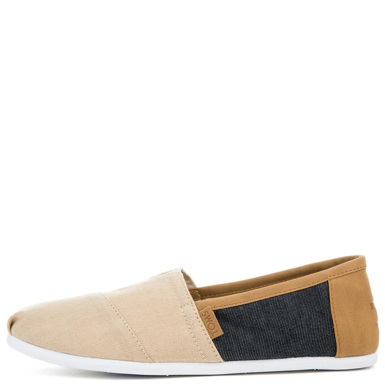 Men's Classic Natural Hemp Navy Denim Flats