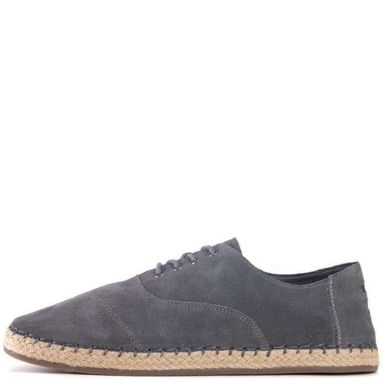 Toms for Men: Camino Castlerock Grey Suede Oxfords