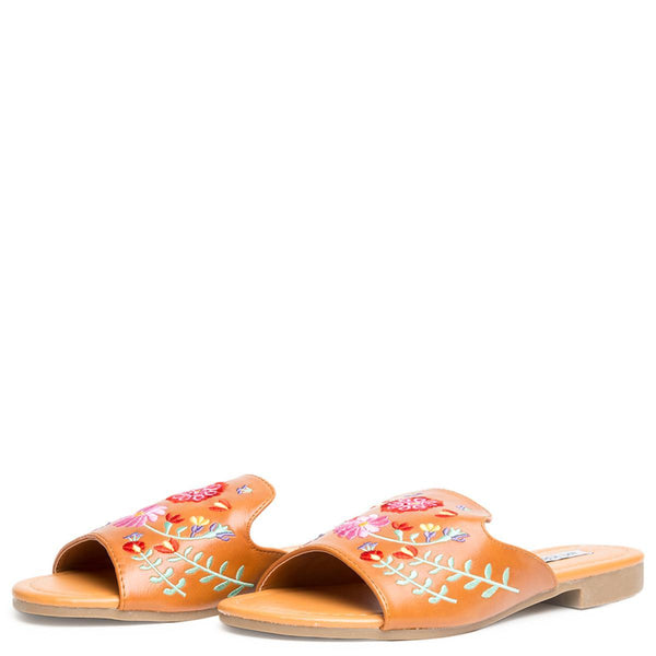 Cape Robbin Emily-87 Camel Women's Sandals