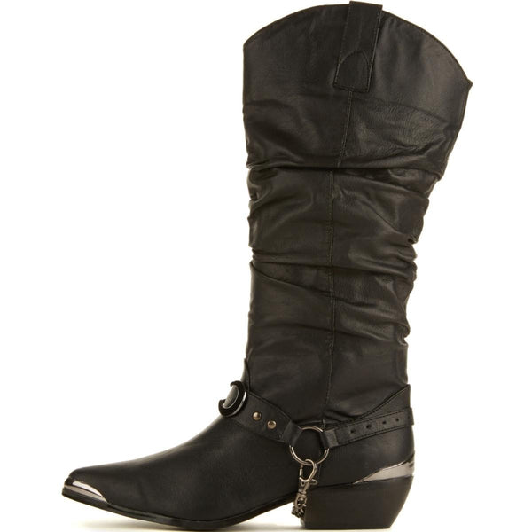 Y.R.U. for Women: Death Proof Black Cowboy Boots