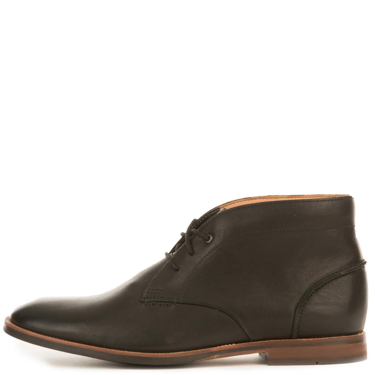 Men's Broyd Mid Black Leather Chukka Boots