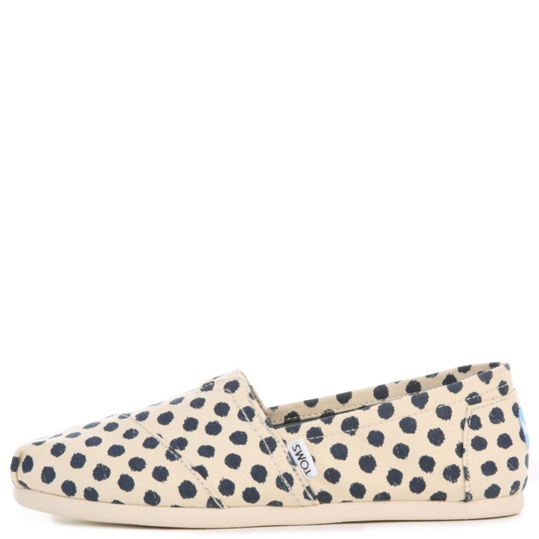Toms for Women: Classic Polka Dots Natural Flats
