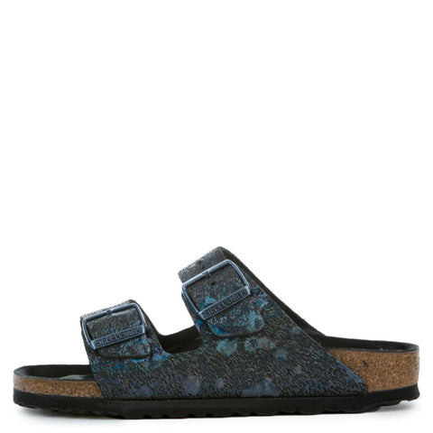 Birkenstocks Arizona Lux Leahter Women's Spotted Metallic Black Sandals