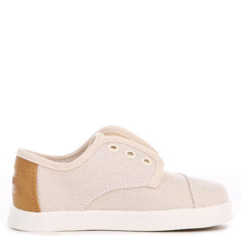 Toms for Toddlers: Natural Burlap Paseo Sneaker