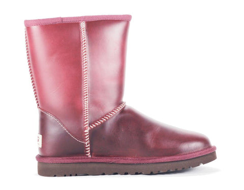 UGG Australia for Women: Classic Short Leather Oxblood Boot