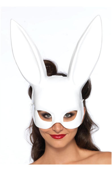 Bondage bunny mask (6 per pack) in WHITE