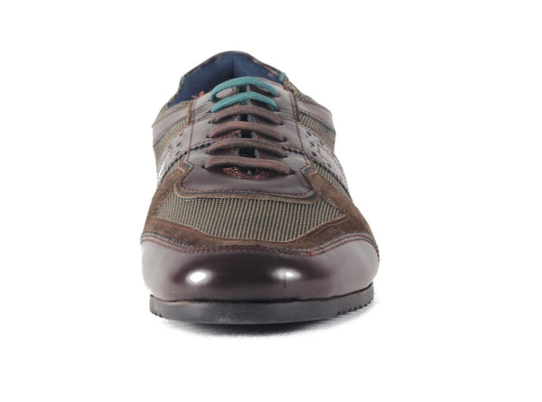Ted Baker for Men: Stoake Brown Leather Sneaker