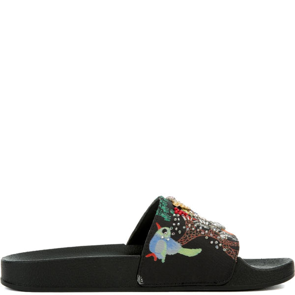 Women's Sparkly Black Sandal