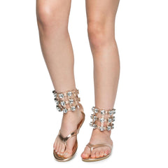 Cape Robbin OMH-12 Women's Rose Gold Sandal