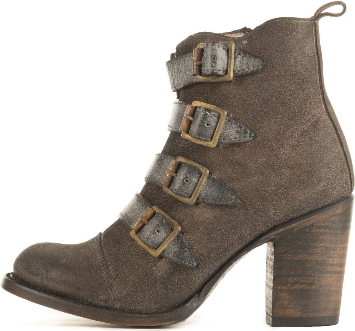Freebird by Steven for Women: FB-Banjo Grey Heel Booties