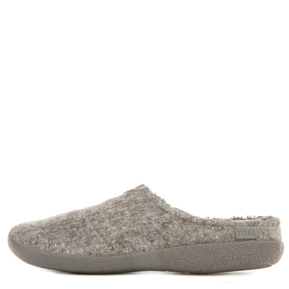Toms for Men: Berkeley Grey Slub Textile Slippers
