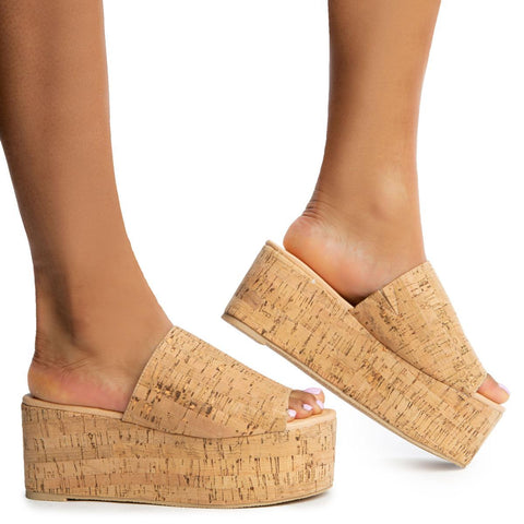 Budza-5 Cork Wedge Sandals