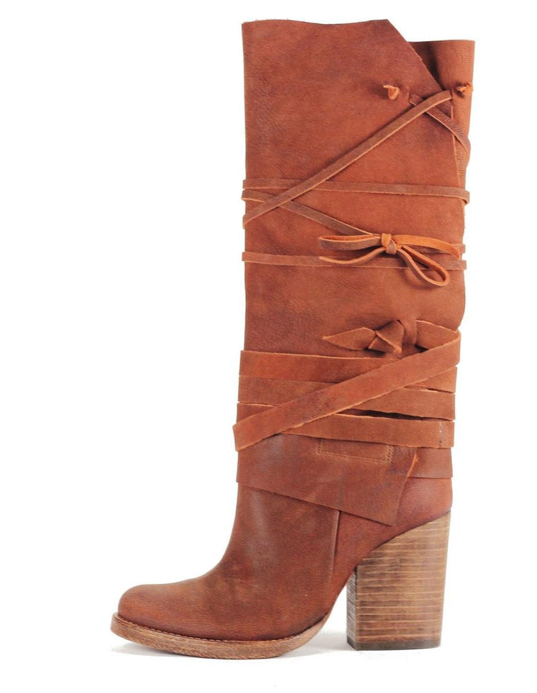 Free People: Royal Rush Brown Boot