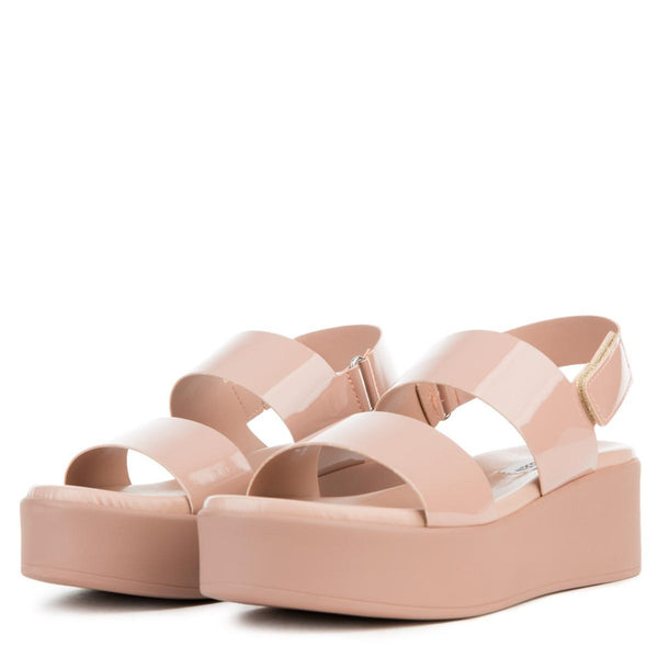 Women's Rachel Dark Blush Patent Platform Sandals