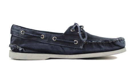 Sperry Top-Sider for Men: Authentic Original 2-Eye Color Wash Navy Sneakers