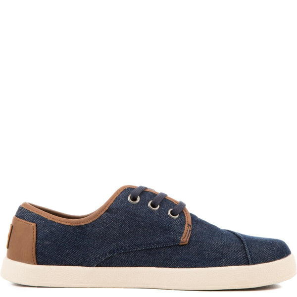 Toms Kids: Paseo Blue Denim Sneakers