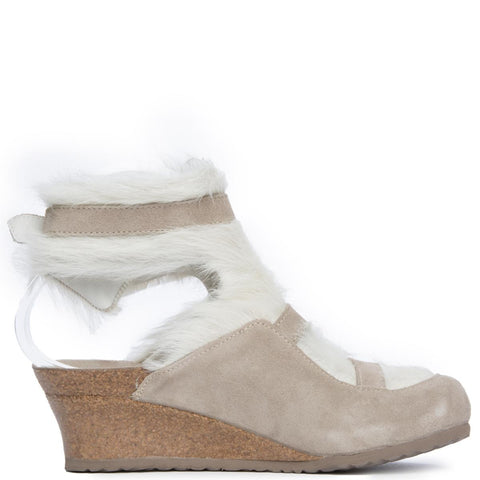 Birkenstock for Women: Anuk Arctic Off White Wedge Sandal