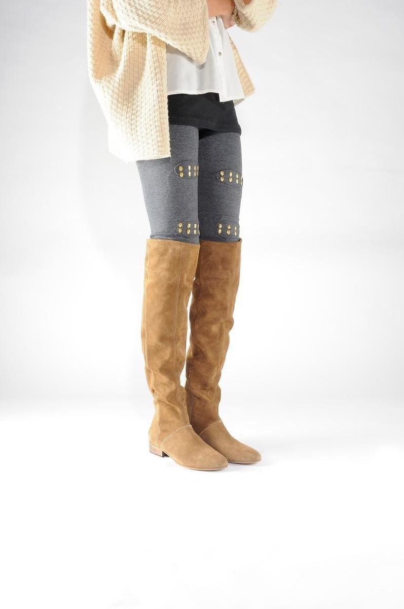 Free People for Women: Grandeur Tan Over the Knee Boot