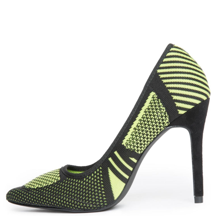 Cape Robbin Kitana-38 Women's Lime High Heels