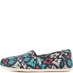 Toms for Women: Classics Blue Multi Blanket Print Canvas Flats