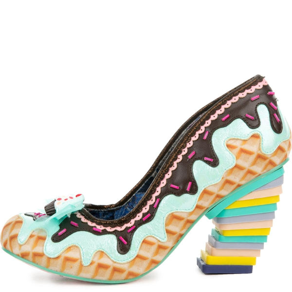 Women's Sweet Treats Mint and Brown High Heel