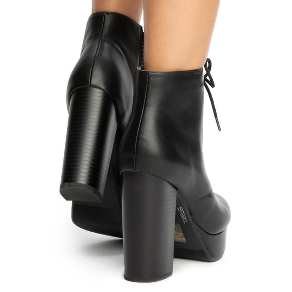 Erica-S Lace Up Booties