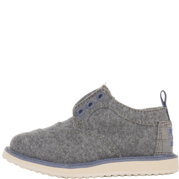 Tiny Toms: Brogues Blue Chambray Sneakers