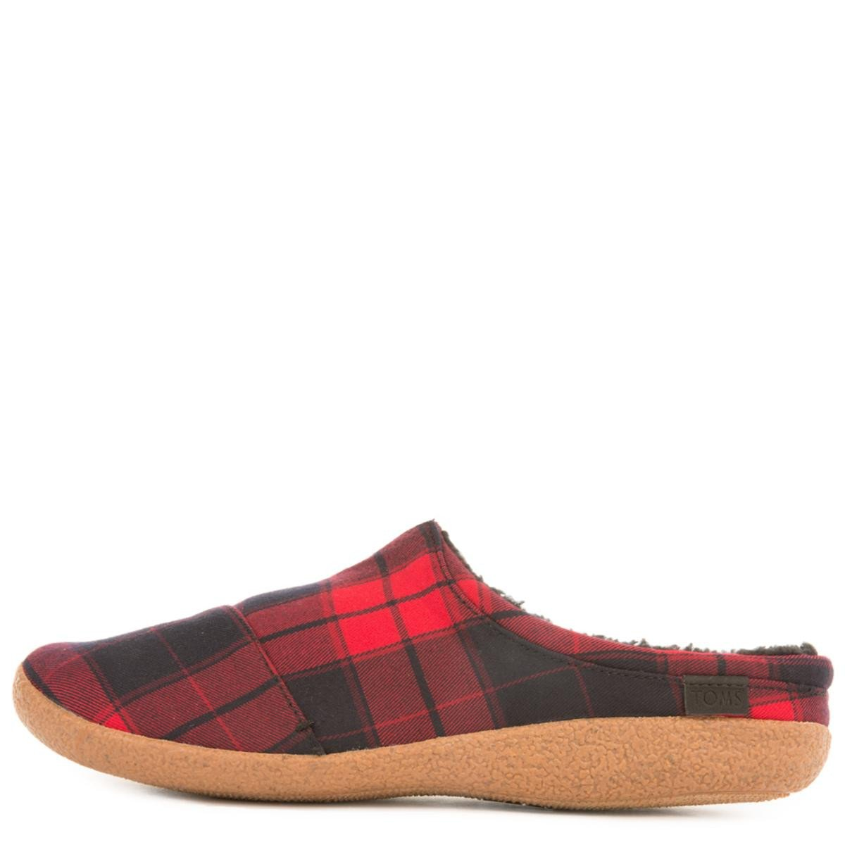 Toms for Men: Berkeley Red Plaid Slippers