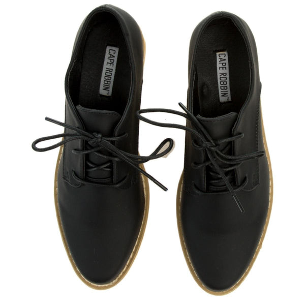 Cape Robbin Fara-2 Women's Black Oxford