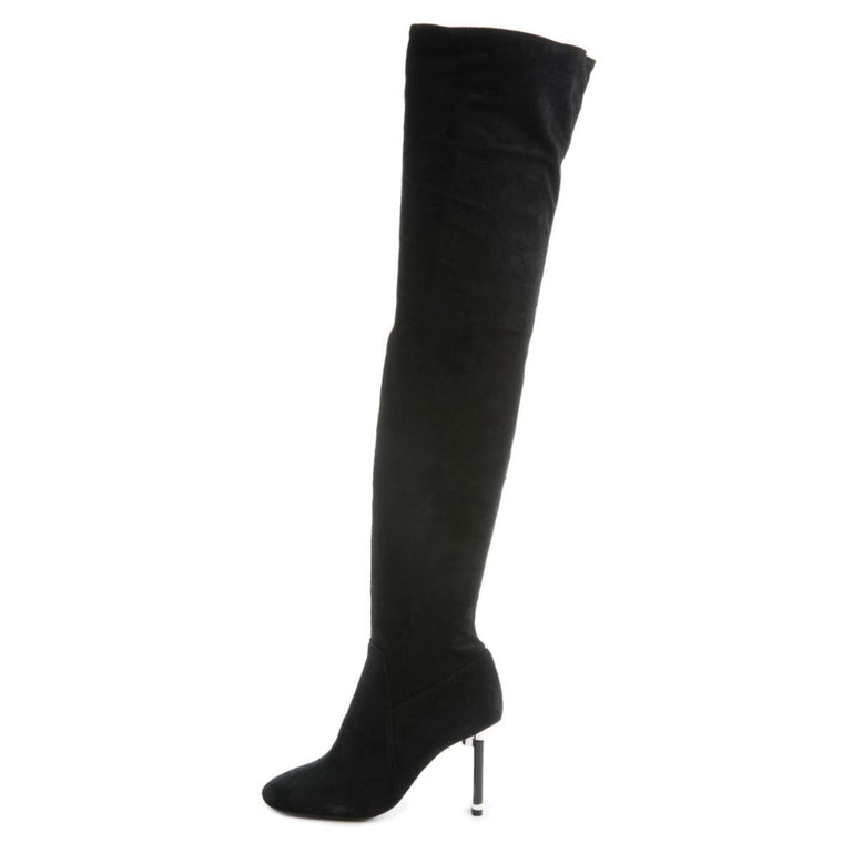 Peligro-OK Thigh-High Heeled Boots