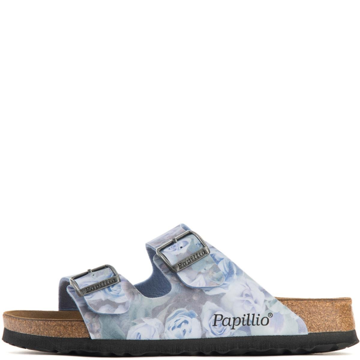 Birkenstock for Women: Papillio Arizona Silky Rose Blue Narrow Sandals