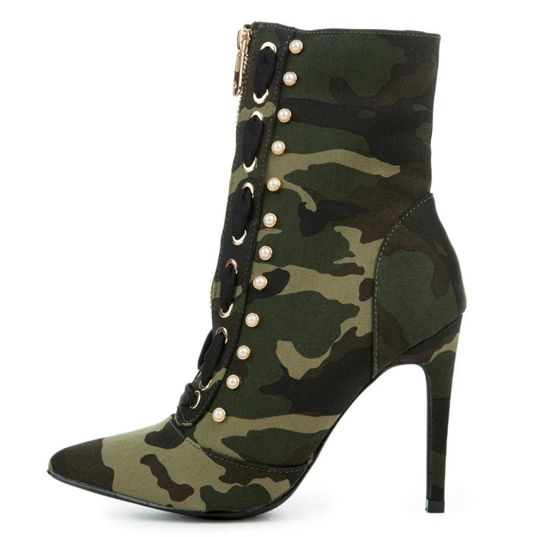 Cape Robbin Gigi-17 Camo High Heel Boot