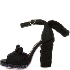 Women's Kitty Paws Black High Heel