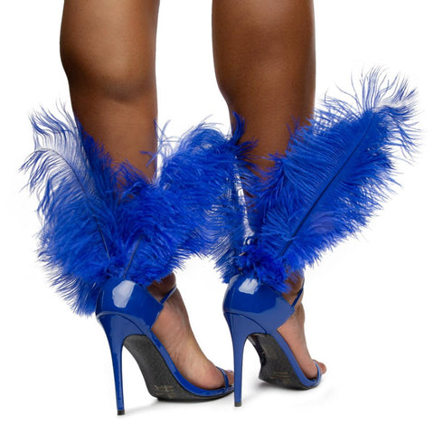 Jazmine Heels with Feathers