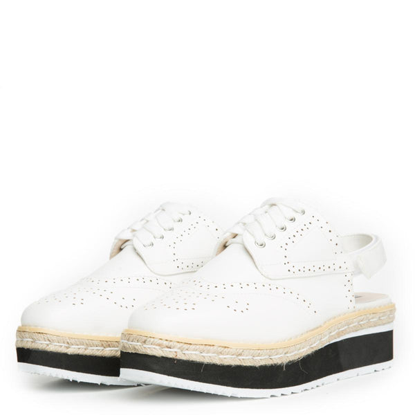 Cape Robbin Milly-1 Women's White Oxford