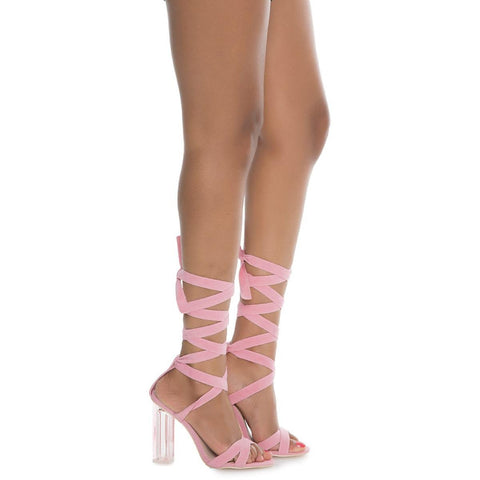 Women's Maria-1 Lace-Up Sandal Pink Strappy Sandals