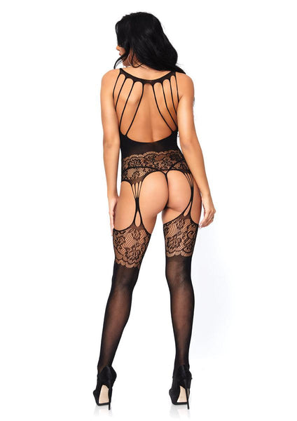 Women's Strappy Rose Lace Suspender