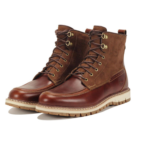 Timberland for Men: Britton Hill Moc Toe Brown Waterproof Boots
