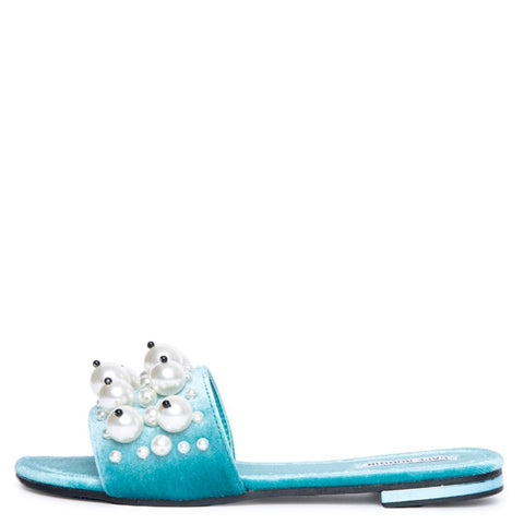 Cape Robbin Evelyn-6 Women's Aqua Sandal