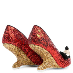 Irregular Choice Mickey Mouse & Friends Collection Women's Oh Boy! Red Heel