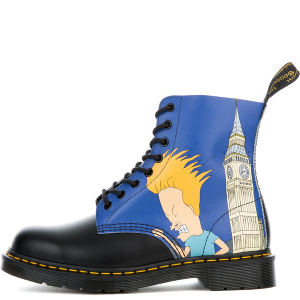 Unisex Beavis & Butt-Head Pascal Black + Blue Boots