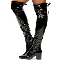 Rapid-06 Block Heel Over The Knee Boots