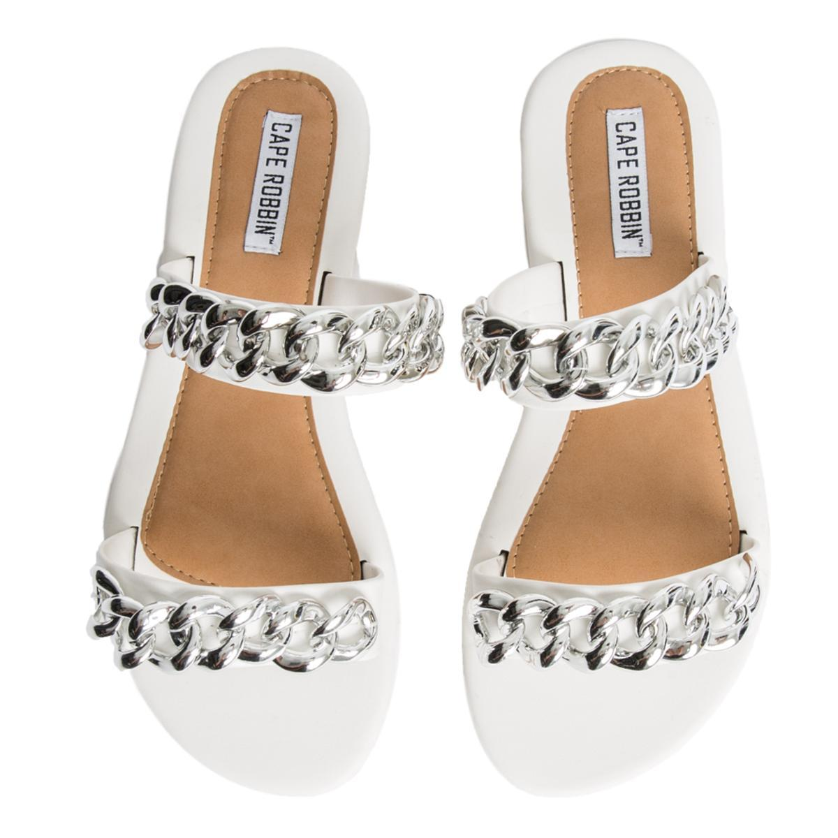 Cape Robbin Leela-8 Women's White Sandals